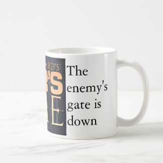 La puerta del enemigo - correcta taza de café