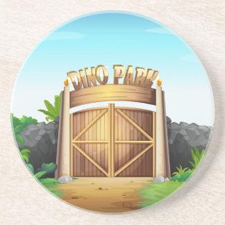 La puerta del parque de Dino Posavasos Manualidades