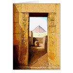 La puerta del Pharaoh - tarjeta