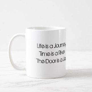 La puerta es un tarro taza de café