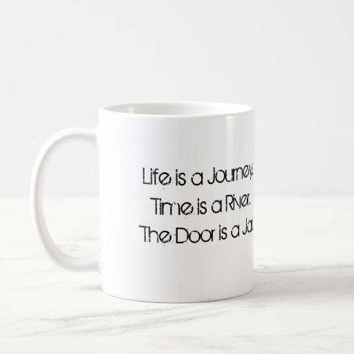 La puerta es un tarro tazas de café