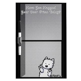 La puerta premiada seca al tablero del borrado pizarra blanca