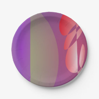 La puerta púrpura y el árbol rojo plato de papel de 7 pulgadas