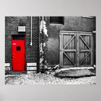 La puerta roja impresiones