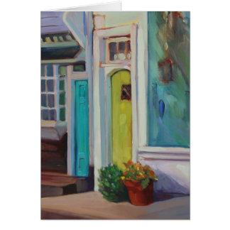 La puerta siguiente de la puerta tarjeta pequeña