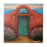 La Puerta Verde Azulejo Cuadrado Pequeño