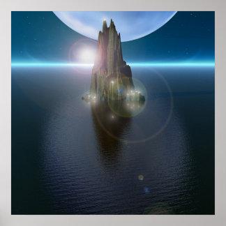 La puesta del sol 2 de Neptuno Poster