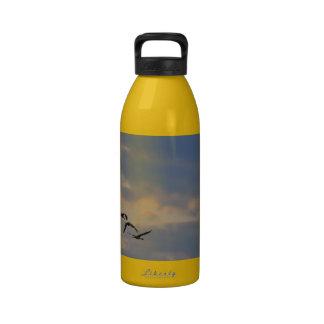 La puesta del sol Cranes la botella de la libertad Botellas De Beber