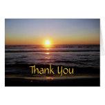 La puesta del sol de Tierra Del Mar le agradece Tarjeta Pequeña