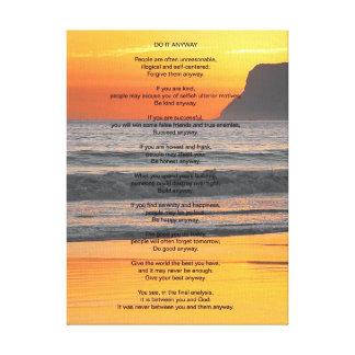La puesta del sol del océano lo hace de todos mod impresiones en lienzo estiradas