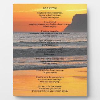 """La puesta del sol del océano """"lo hace de todos mod placa de plastico"""