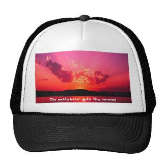 ¡La puesta del sol, el earlybird consigue el gusan Gorras De Camionero