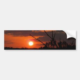 La puesta del sol hermosa pegatina para auto