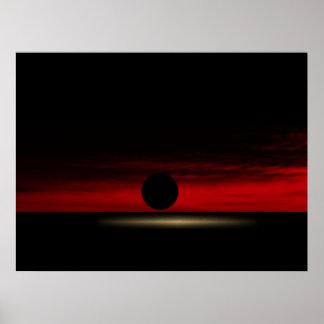 La puesta del sol impresiones
