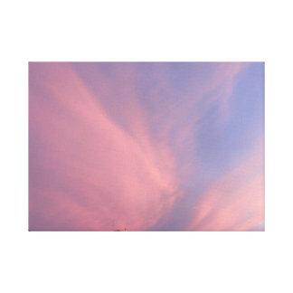 La puesta del sol impresiones en lona estiradas