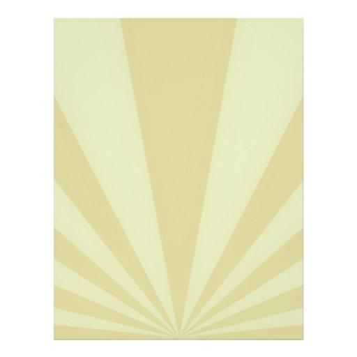 """La puesta del sol irradia el oro folleto 8.5"""" x 11"""""""