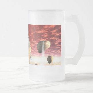 La puesta del sol maravillosa taza de cristal