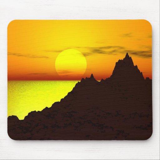 La puesta del sol Mousepad Alfombrilla De Ratones