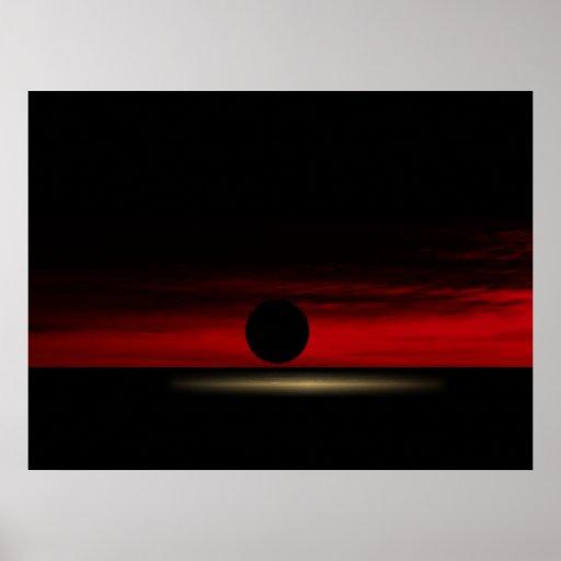 La puesta del sol póster