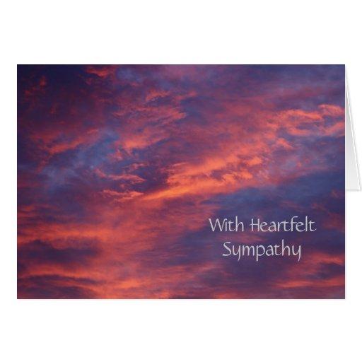 La puesta del sol se nubla la tarjeta de condolenc