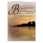 La puesta del sol y los salmos/el regalo de oro de tarjetas