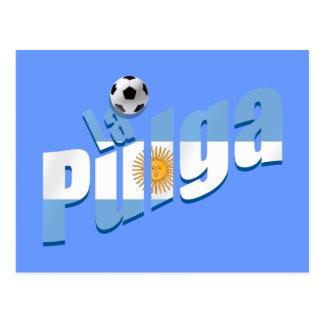 La Pulga Argentinian flag Soccer Hero gifts Postcard