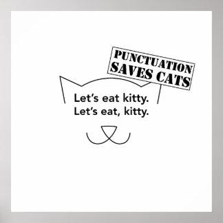 La puntuación ahorra gatos póster