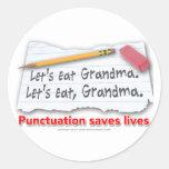 La puntuación ahorra vidas pegatina