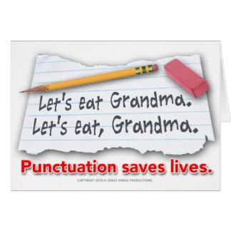 La puntuación ahorra vidas tarjeta de felicitación
