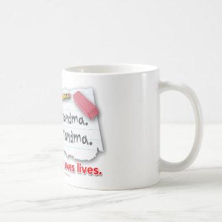 La puntuación ahorra vidas taza de café