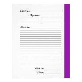 """La púrpura 2 echó a un lado las páginas de la rece folleto 8.5"""" x 11"""""""