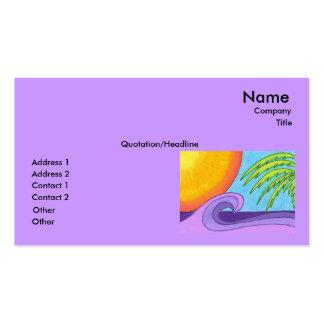 La púrpura agita en la plantilla de la tarjeta de