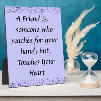 La púrpura Amethyst burbujea placa de la amistad