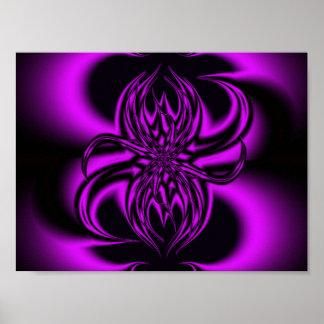 La púrpura arrastra fractal posters