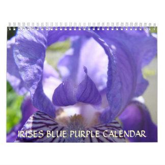 La púrpura azul de los REGALOS de la OFICINA irisa Calendario