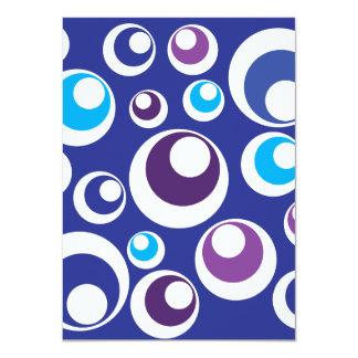 La púrpura azul retra de la diversión circunda el anuncio