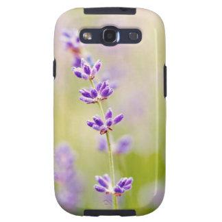 la púrpura bonita florece calmar natual de la galaxy SIII carcasas