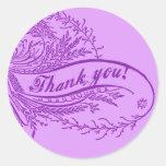 La púrpura bonita le agradece los pegatinas pegatinas redondas