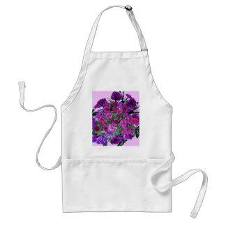La púrpura bonita suave femenina de la lila w delantal