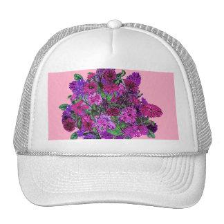 La púrpura bonita suave femenina del rosa w gorros bordados