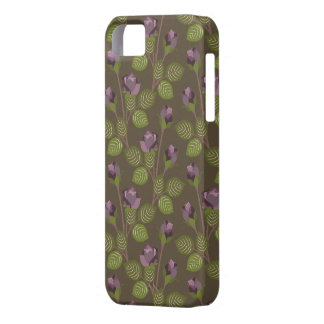 La púrpura bonita verde oliva florece el iPhone 5 iPhone 5 Funda