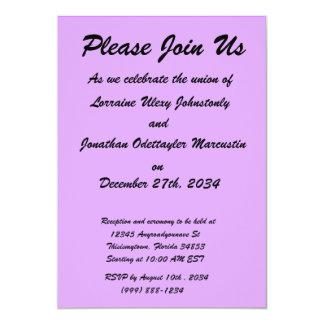 la púrpura brillante lo hace usted mismo plantilla invitación 12,7 x 17,8 cm