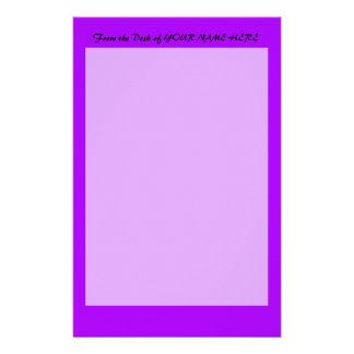 la púrpura brillante lo hace usted mismo plantilla papelería