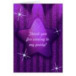La púrpura Brillo-Como cumpleaños de la estrella l Tarjeton