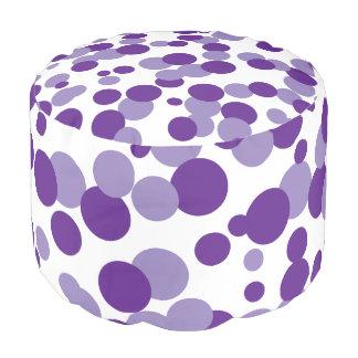 La púrpura burbujea taburete Seat del confeti