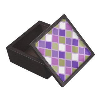 La púrpura colorida de la lavanda de la verde salv caja de recuerdo de calidad