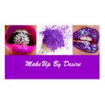 La púrpura compone por la tarjeta de visita del de