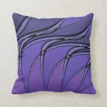 La púrpura con negro alinea la almohada de tiro ab