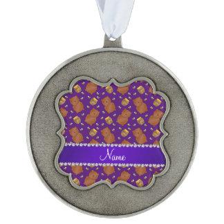 La púrpura conocida lleva el modelo de las abejas adorno ondulado de peltre