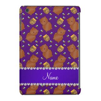 La púrpura conocida lleva el modelo de las abejas funda para iPad mini retina